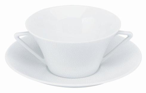 Seychelles white Cream Soup Saucer