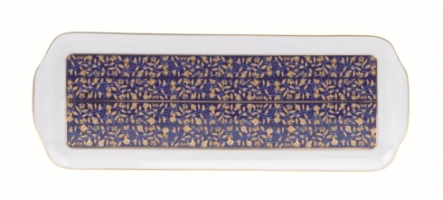Vignes Blue rectangular platter
