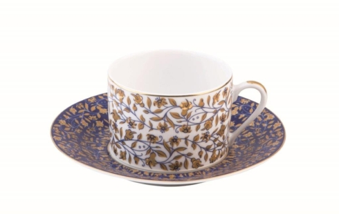 Vignes Blue tea saucer