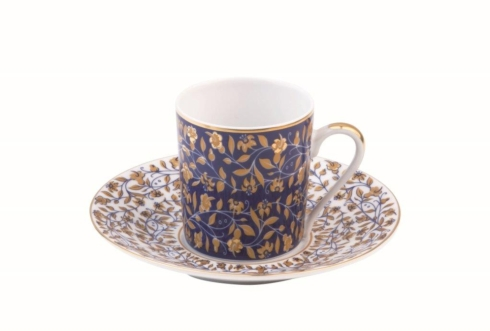 Vignes White coffee saucer