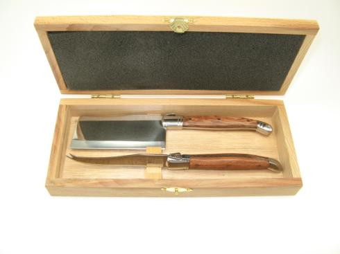 Table Knives & Forks 2 piece Laguiole Rosewood cheese set