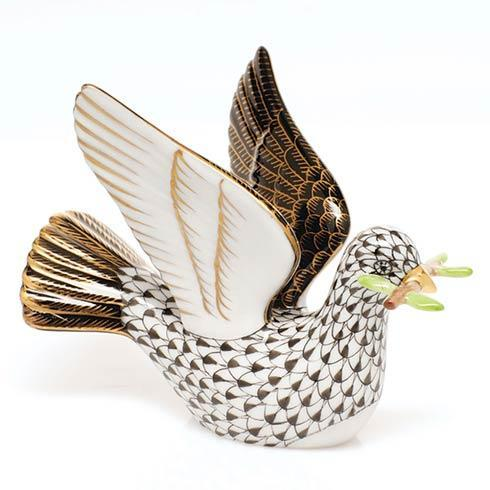 Peace Dove with Branch - Black