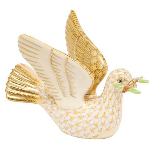 Peace Dove with Branch - Butterscotch