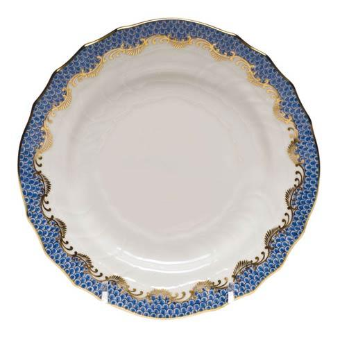 Fish Scale Blue Bread & Butter Plate - Blue
