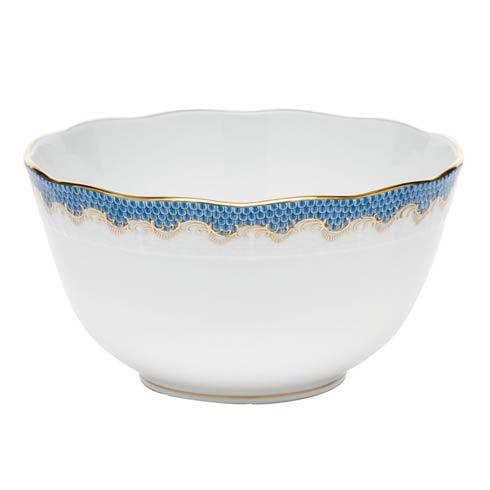 Fish Scale Blue Round Bowl - Blue