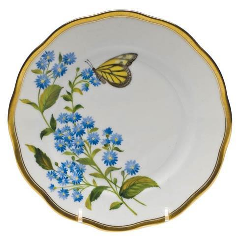 American Wildflowers Blue Wood Aster Bread & Butter Plate