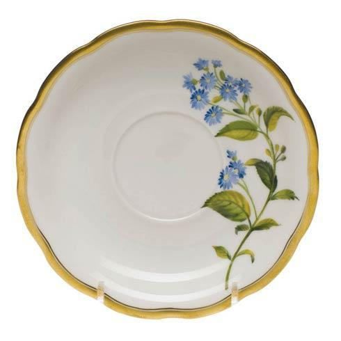 American Wildflowers Blue Wood Aster Tea Saucer
