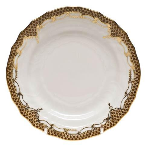 Fish Scale Brown Bread & Butter Plate - Brown