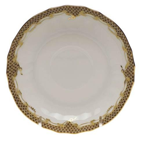 Fish Scale Brown Canton Saucer - Brown
