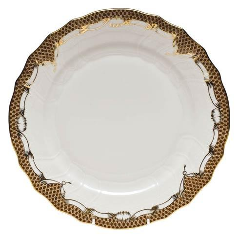 Fish Scale Brown Dinner Plate - Brown