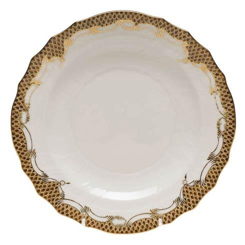 Fish Scale Brown Salad Plate - Brown