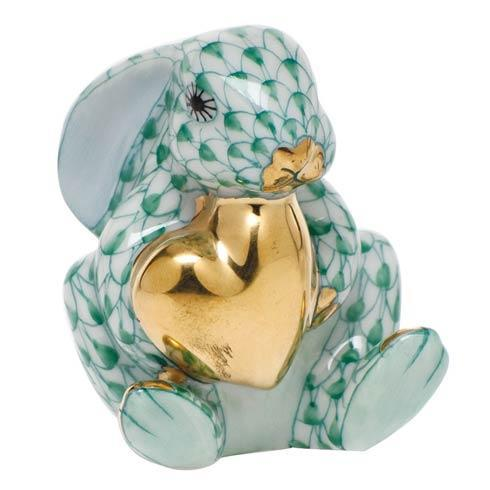Bunny with Heart - Green