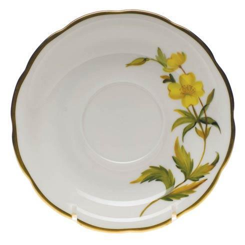 American Wildflowers Evening Primrose Tea Saucer