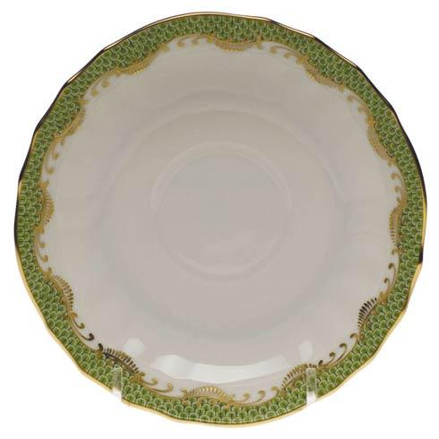 Fish Scale Evergreen Canton Saucer - Evergreen