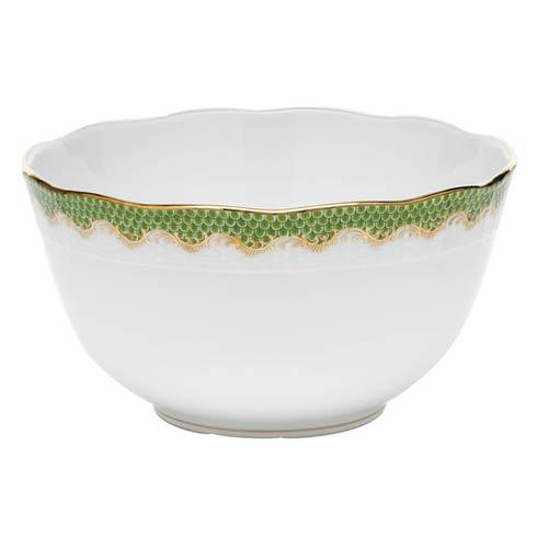 Fish Scale Evergreen Round Bowl - Evergreen