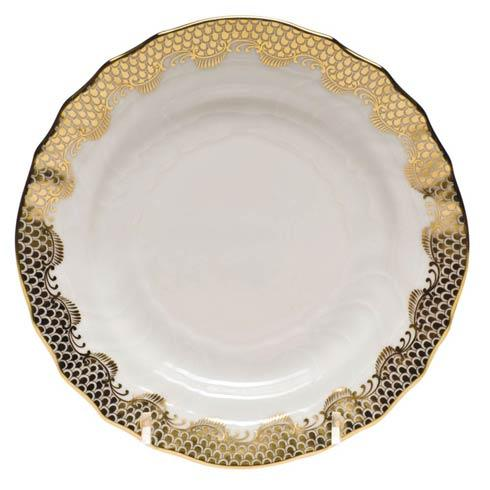 Fish Scale Gold Bread & Butter Plate - Gold