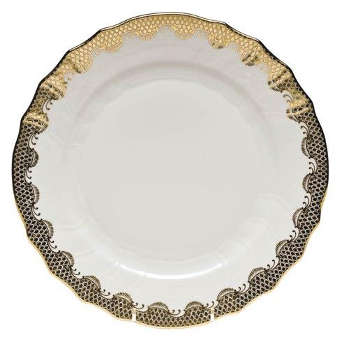Fish Scale Gold Dinner Plate - Gold