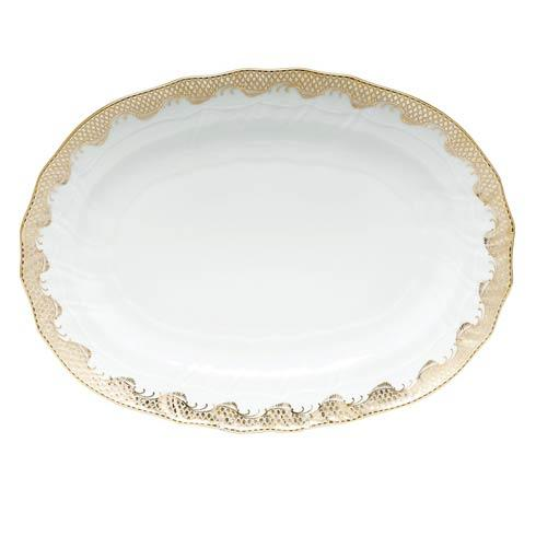 Fish Scale Gold Platter - Gold