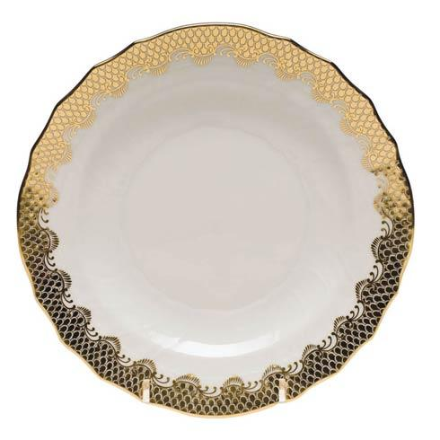 Fish Scale Gold Salad Plate - Gold