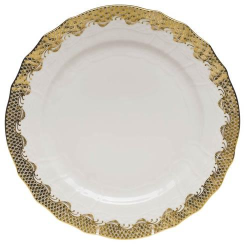 Fish Scale Gold Service Plate - Gold