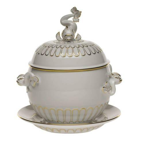 Golden Edge Tureen & Platter