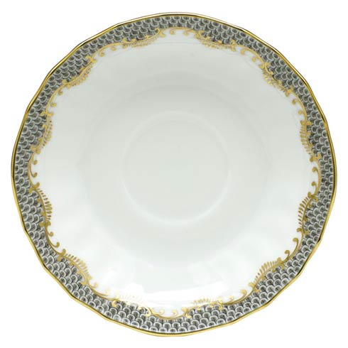 Fish Scale Gray Canton Saucer - Gray