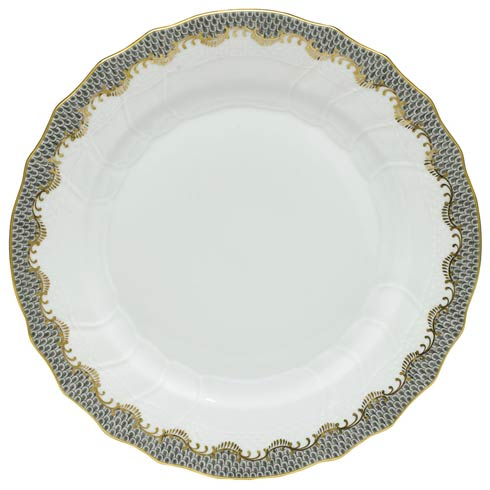 Fish Scale Gray Dinner Plate - Gray