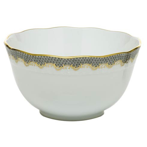 Fish Scale Gray Round Bowl - Gray