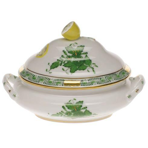 Chinese Bouquet Green Mini Tureen - Lemon
