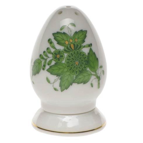Chinese Bouquet Green Salt Shaker Multi Hole
