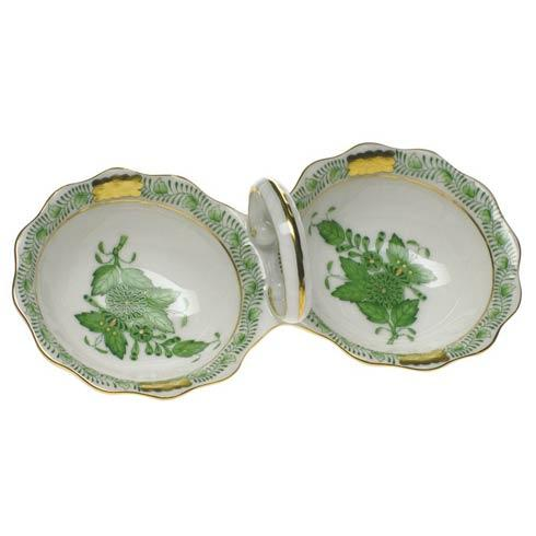 Chinese Bouquet Green Twin Salt