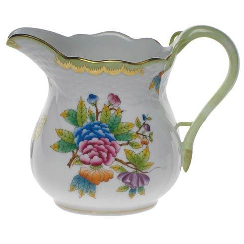 Queen Victoria Green Border Milk Pitcher