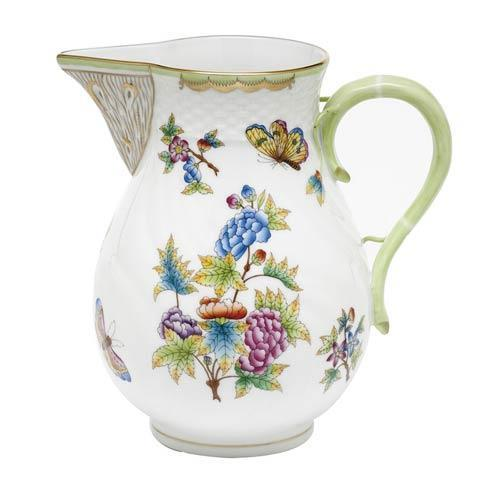 Queen Victoria Green Border Pitcher - Multicolor