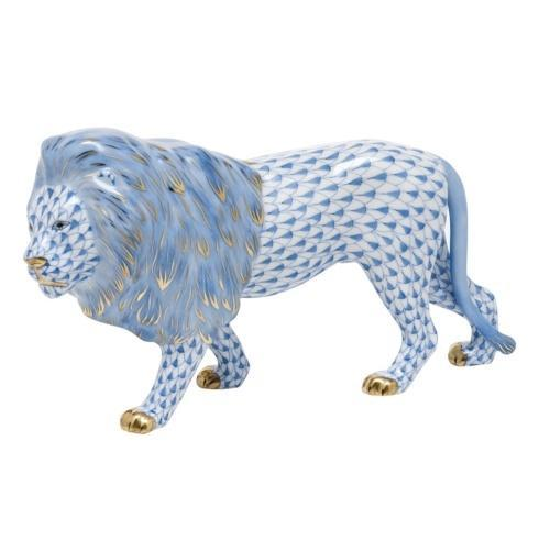 Standing Lion - Blue