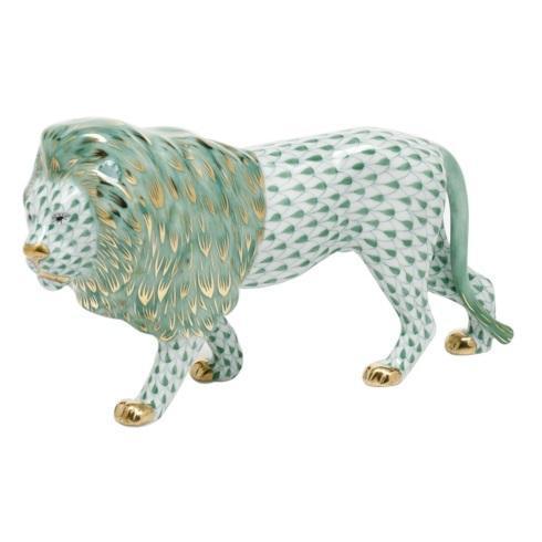 Standing Lion - Green