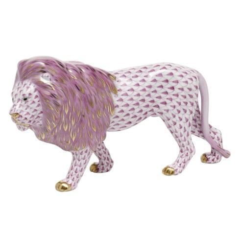 Standing Lion - Raspberry