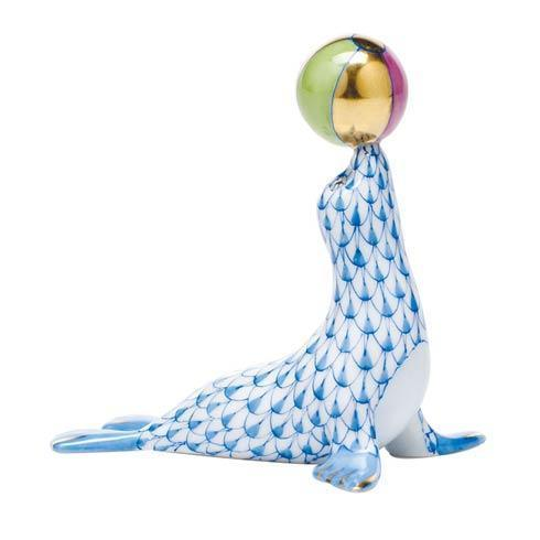 Sea Lion with ball - Blue