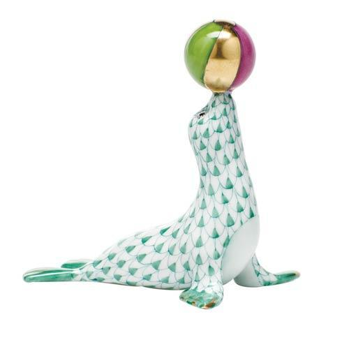 Sea Lion with ball - Green