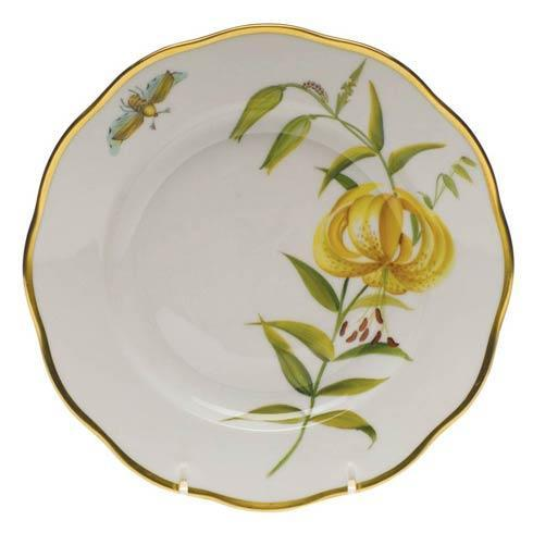 American Wildflowers Meadow Lily Salad Plate