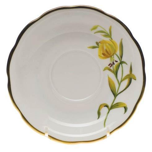 American Wildflowers Meadow Lily Tea Saucer