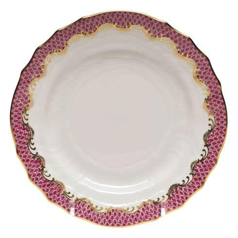 Fish Scale Pink Bread & Butter Plate - Pink