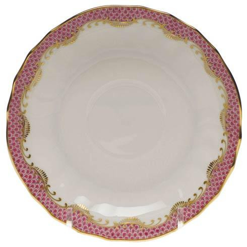 Fish Scale Pink Canton Saucer - Pink