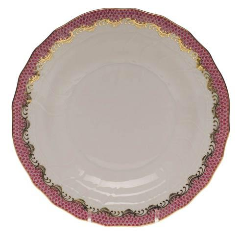 Fish Scale Pink Dessert Plate - Pink