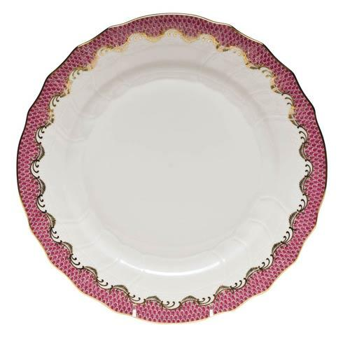 Fish Scale Pink Dinner Plate - Pink
