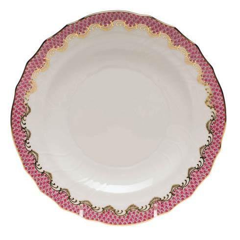 Fish Scale Pink Salad Plate - Pink