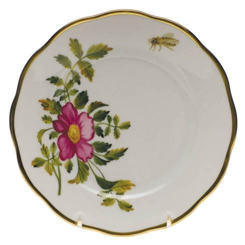 American Wildflowers Prairie Rose Bread & Butter Plate
