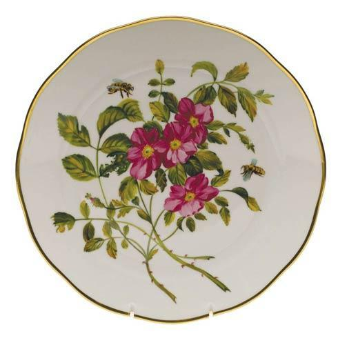 American Wildflowers Prairie Rose Dinner Plate