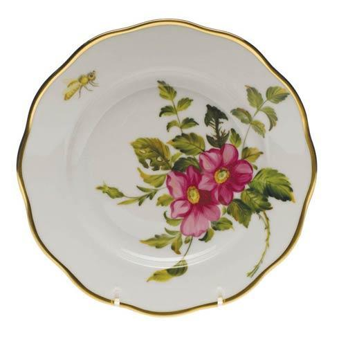 American Wildflowers Prairie Rose Salad Plate