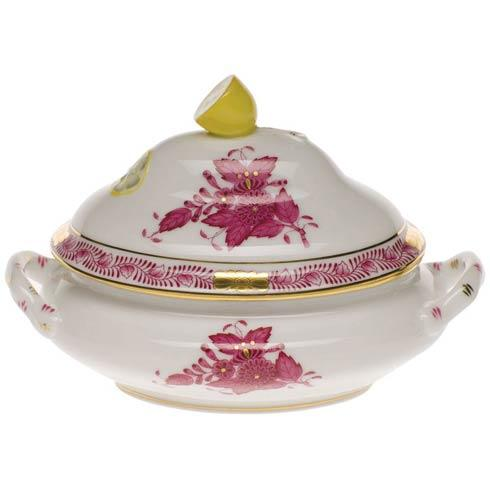 Chinese Bouquet Raspberry Mini Tureen - Lemon