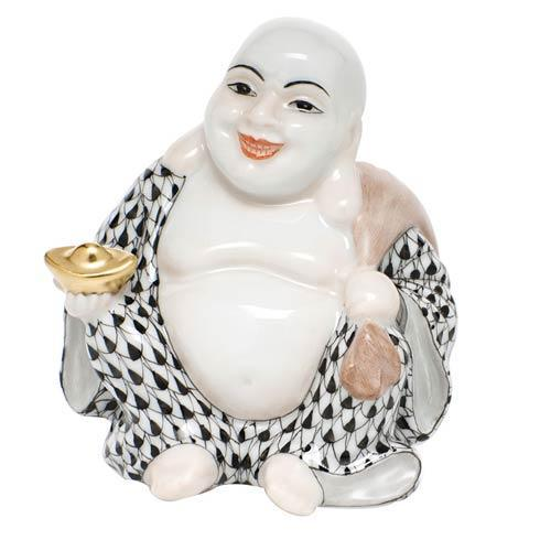 Small Laughing Buddha - Black